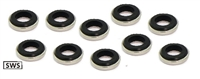 SWS-3-E NBK Japan 3.2mm Seal Washer 3.2x7x2.2 - Pack of 10
