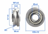 4mm ID Bore Pulley Ball Bearing, miniature yet shielded Pulley U Groove Track Roller Bearing,  U-groove ball bearing type, Metric standard, Sealed with 2 Metal Shields, Size: 4mm x 12mm x 5mm, dimensions ID (Bore): 4mm, OD 12mm Width 5mm