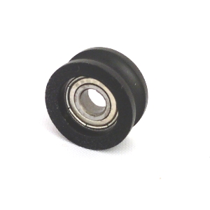 5mm Bore Bearing with 26mm Round Nylon Pulley U Groove Track Roller Bearing 5x26x13mm