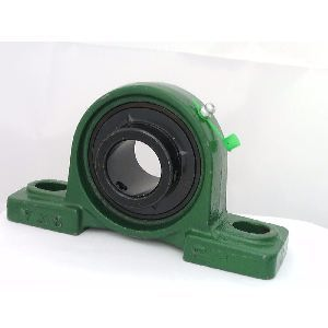 "1/2"" Bearing UCP201-8 Black Oxide Plated Insert + Pillow Block Cast Housing Mounted Bearings"