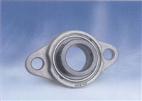 10mm Flange Bearing UFL000 Eccentric Collar Locking Two-Bolt Flange Unit
