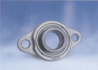 17mm Flange Bearing UFL003 Eccentric Collar Locking Two-Bolt Flange Unit