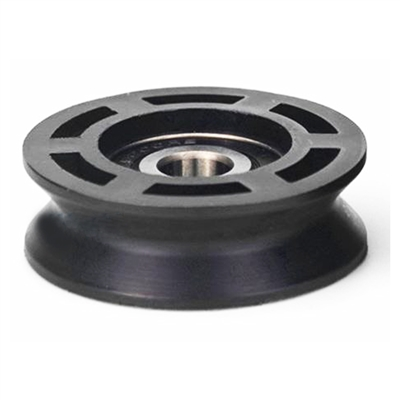 10mm Bore Bearing with 50mm Round Pulley V-Groove Track Roller Bearing 10x50x16mm