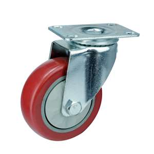 60mm Caster Wheel 132 pounds Swivel Polyvinyl Chloride Top Plate