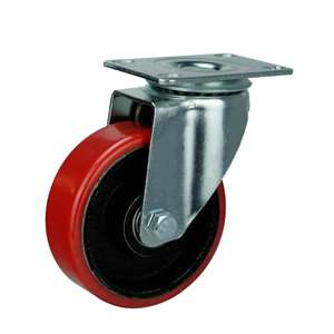"3"" Inch Caster Wheel 220 pounds Swivel Iron  and  Polyurethane Top Plate"