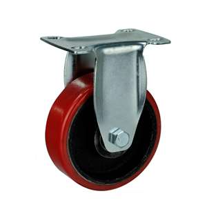 "4"" Inch Caster Wheel 265 pounds Rigid Iron  and  Polyurethane Top Plate"