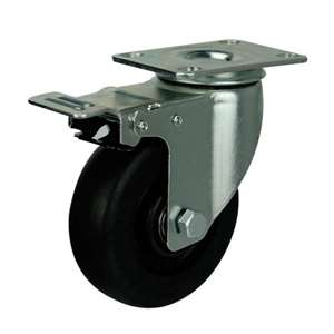 "4"" Inch Caster Wheel 198 pounds Swivel and Upper Brake Phenolic and 0-250ºC Top Plate"