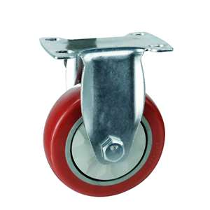"4"" Inch Caster Wheel 198 pounds Rigid Polyvinyl Chloride Top Plate"