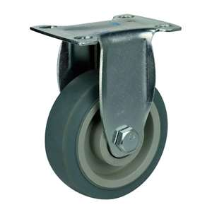 "5"" Inch Caster Wheel 220 pounds Rigid Thermoplastic Rubber Top Plate"