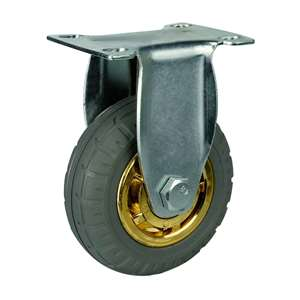 "5"" Inch Caster Wheel 176 pounds Rigid Rubber Top Plate"