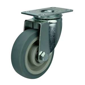 "5"" Inch Caster Wheel 220 pounds Swivel Thermoplastic Rubber Top Plate"