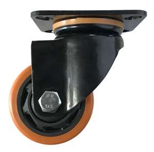 "4"" Inch Caster Wheel 551 pounds Swivel Polyurethane  and  Polypropylene Top Plate"