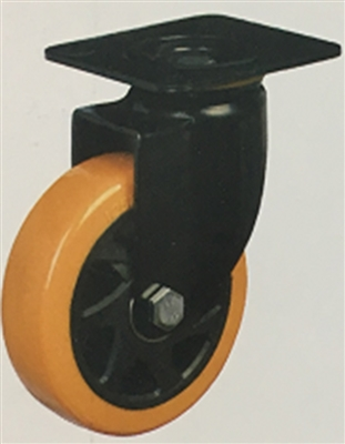 "5"" Inch Caster Wheel 661 pounds Swivel Polyurethane  and  Polypropylene Top Plate"