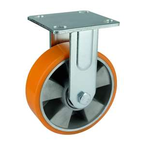 "4"" Inch Caster Wheel 661 pounds Fixed Aluminum and  Polyurethane Top Plate"