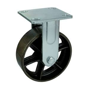 "4"" Inch Caster Wheel 441 pounds Fixed Black Cast iron Top Plate"