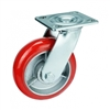 "5"" Inch Caster Wheel 661 pounds Swivel+Brake+Fixed Iron core  and  Polyurethane Top Plate"