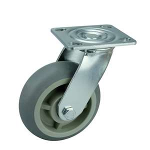 "5"" Inch Caster Wheel 507 pounds Swivel Polypropylene core  and  Thermoplastic Rubber Top Plate"
