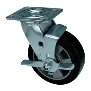"5"" Inch Caster Wheel 441 pounds Swivel Aluminum core  and  Rubber Top Plate"