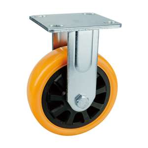 "5"" Inch Caster Wheel 507 pounds Fixed Polyurethane Top Plate"