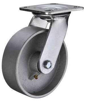 "5"" Inch Caster Wheel 617 pounds Swivel Cast Iron Top Plate"