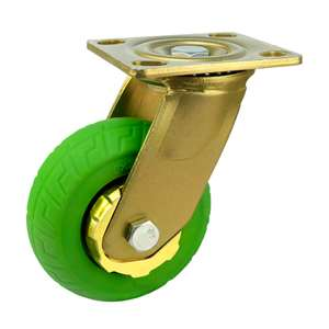 "6"" Inch Caster Wheel 617 pounds Swivel Thermoplastic Rubber Top Plate"