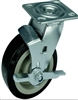 "6"" Inch Caster Wheel 617 pounds Swivel Polyvinyl Chloride Top Plate"