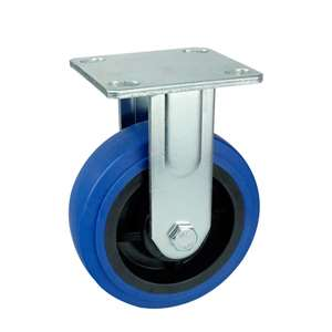 "6"" Inch Caster Wheel 617 pounds Fixed Thermoplastic Rubber Top Plate"