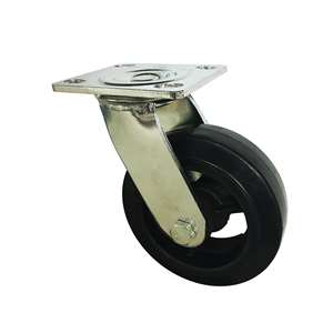 "6"" Inch Caster Wheel 617 pounds Swivel Rubber Top Plate"