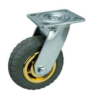 "6"" Inch Caster Wheel 551 pounds Swivel Polypropylene core  and  Rubber Top Plate"