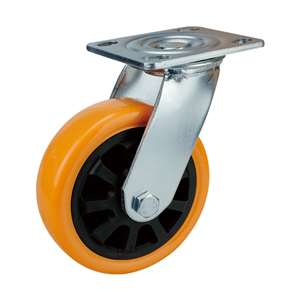 "6"" Inch Caster Wheel 617 pounds Swivel Polyurethane Top Plate"
