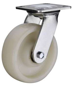 "8"" Inch Caster Wheel 1543 pounds Swivel Polyamide (Nylon) Top Plate"