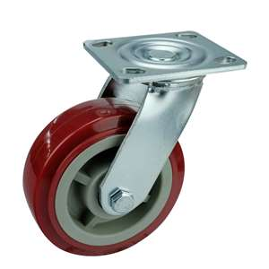 "8"" Inch Caster Wheel 661 pounds Swivel Polyurethane Top Plate"