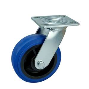 "8"" Inch Caster Wheel 661 pounds Swivel Thermoplastic Rubber Top Plate"