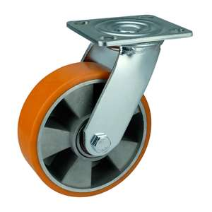 "6"" Inch Caster Wheel 1102 pounds Swivel Aluminium  and  Polyurethane Top Plate"