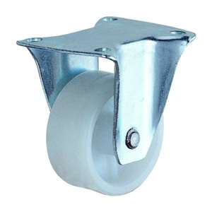 40mm Caster Wheel 44 pounds Fixed Plastic Top Plate