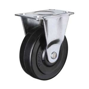 "3"" Inch Caster Wheel 66 pounds Fixed Grey rubber Top Plate"