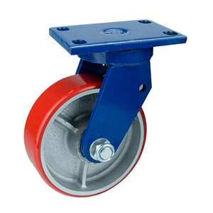 "6"" Inch Caster Wheel 992 pounds Swivel Cast iron polyurethane Top Plate"