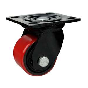 "3"" Inch Caster Wheel 1102 pounds Swivel Polyurethane  and Iron Top Plate"