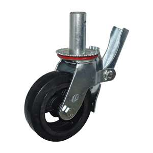 "6"" Inch Scaffold Caster Wheel 441 pounds Swivel and Upper Brake Iron rim and  and rubber"