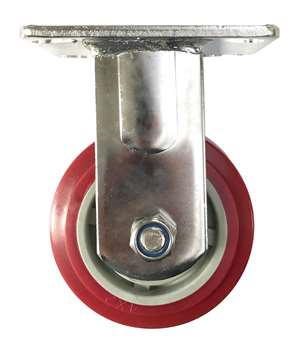 "6"" Inch Caster Wheel 617 pounds Fixed Stainless steel fork  and  Polyurethane Top Plate"