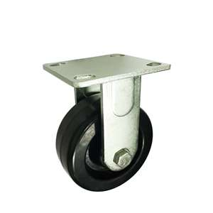 "8"" Inch Caster Wheel 1102 pounds Fixed Phenolic and 0-180ºC Top Plate"