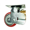 "8"" Inch spring loaded Caster Wheel 772 pounds Swivel Polyurethane  and  Cast iron core Top Plate"
