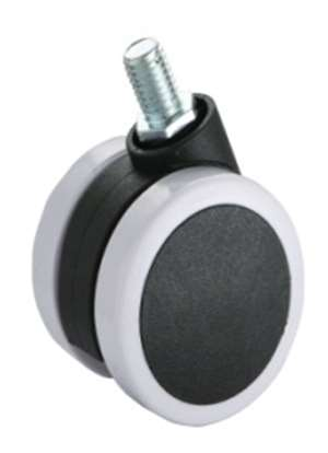 "2"" Inch Caster Wheel 55 pounds Swivel Nylon and  Polyvinyl Chloride"