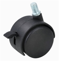 "2"" Inch Caster Wheel 66 pounds Swivel and Upper Brake Nylon"