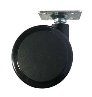 60mm Caster Wheel 77 pounds Swivel and Upper Brake Nylon and  Polyvinyl Chloride Top Plate