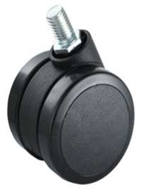 60mm Caster Wheel 77 pounds Swivel and Upper Brake Nylon and  Polyvinyl Chloride