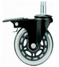 64mm Caster Wheel 77 pounds Swivel and Upper Brake Polyurethane