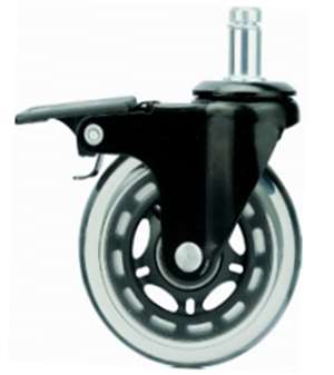 "3"" Inch Caster Wheel 99 pounds Swivel and Upper Brake Polyurethane"
