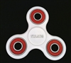 White Fidget Hand Spinners Toy with Center Ceramic Bearing, 2 caps and 3 outer red Bearings