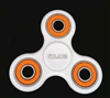 White Fidget Hand Spinners Toy with Center Ceramic Bearing, 2 caps and 3 outer colored Bearings
